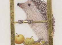 H for Hedgehog,  on vellum