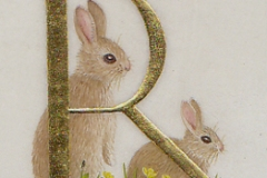 R for Rabbits,  on vellum